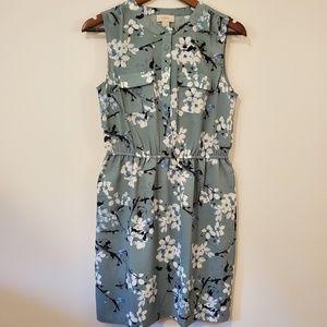 LOFT sleeveless blouse dress floral print size 4